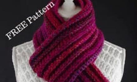 Free Chunky Ribbed Crochet Scarf Pattern