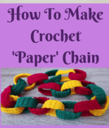 How To Make Crochet Paper Chain