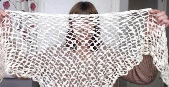 The One Ball Crochet Shawl - Visual Sense Crafts