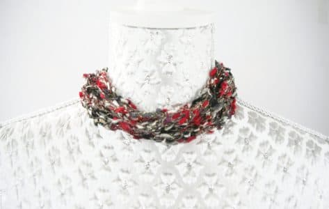 How To Make A Ladder Yarn Crochet Adjustable Necklace