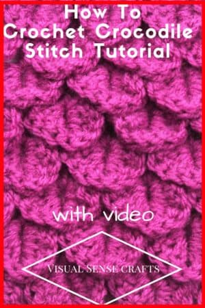 crochet crocodile stich tutorial