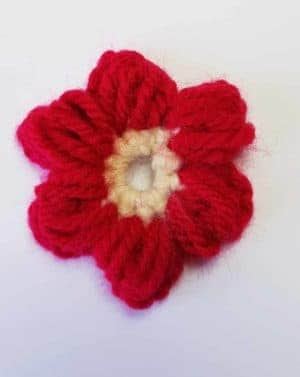 how to make a crochet puff flower